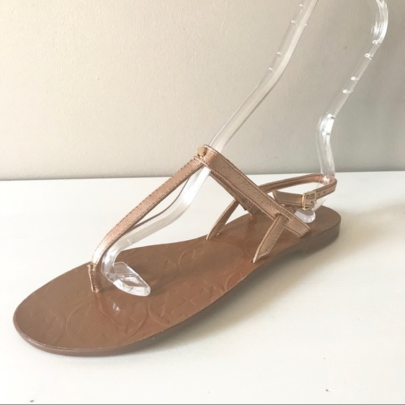 df676ef2d5a3 kate spade Shoes - Kate Spade citrine rose gold t strap sandals 6.5